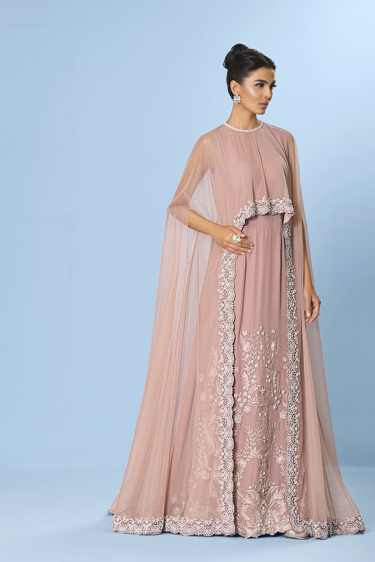 Crystal Cape Dress